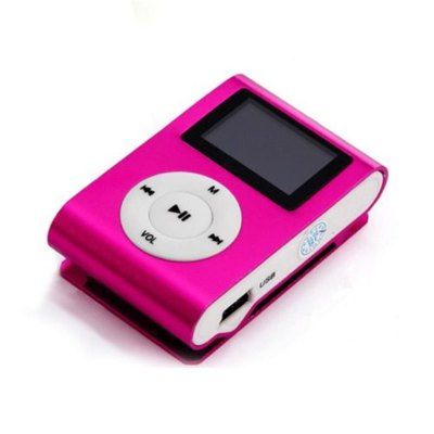 Mini USB Metal Clip MP3 Player LCD Screen Support 32GB Micro SD TF Card Contains 1 GB of Memory