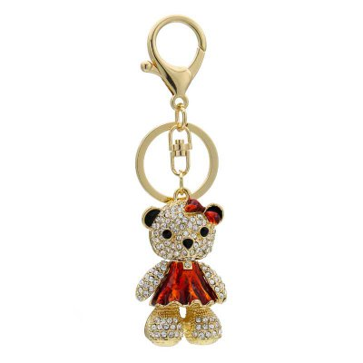 Creative Bear Shape Decoration Rhinestone Key Chain