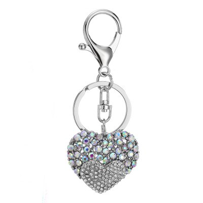 Creative Heart-shaped Decoration Rhinestone Key Chain