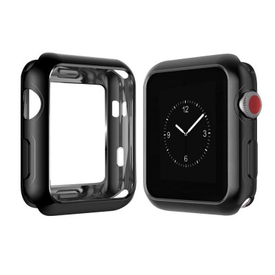 42mm Scratch-resistant Soft Flexible Silicone Lightweight Plated Protector Case for Apple Watch