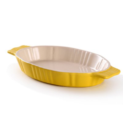 Oval Ceramic Binaural Baking Plate