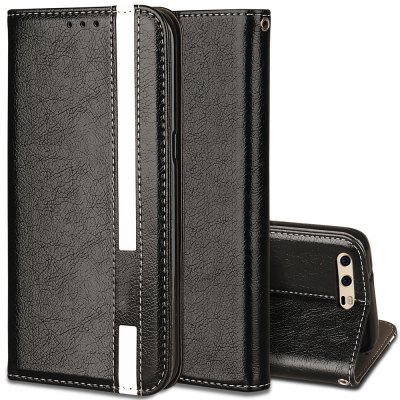 For Huawei P10 Business Leather Case Magnetic Closure Wallet Stand Cover