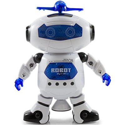 Dancing Robot Musical And Colorful Flashing Lights Kids Fun Toy Figure Spins And Side Steps