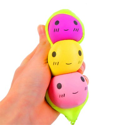 Jumbo Squishy Stylish Peas Hang PU Stress Reliever Toy