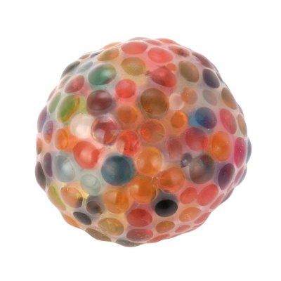 Jumbo Squishy Spongy Rainbow Ball Squeezable Stress Toy Stress Relief for Fun