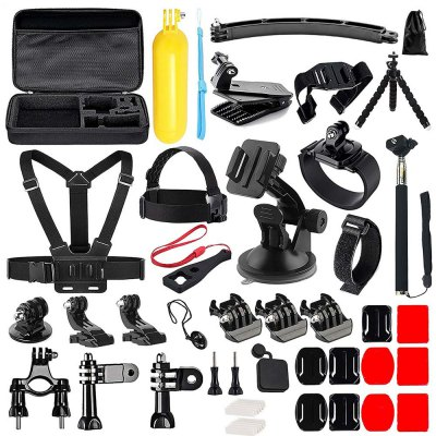 50 in 1 Action Camera Accessories Kit for Gopro Hero 6 /5/ 4 /3/ Sj4000/Sj5000/Sj6000/Sj7000/Xiaomi Yi