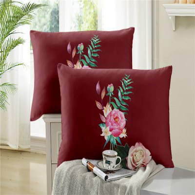 3D Selling Painted Embroidery Petals Leaves Series Pillow Sofa Cushion Cover SK02