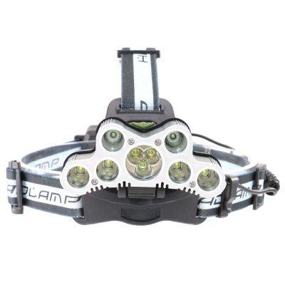 UltraFire SQ-011 T6+R2 9 Light 5600LM 6-Speed Rechargeable High Head Light