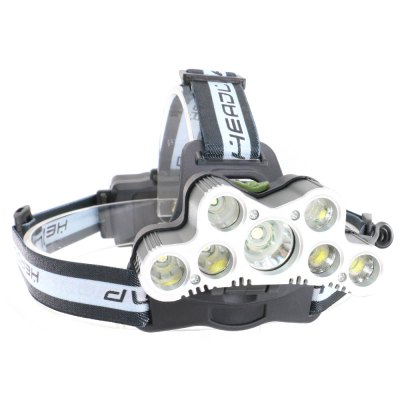 UltraFire SQ-010 T6+R2 7 Light 5000LM 6-Speed Rechargeable Electric Head Light