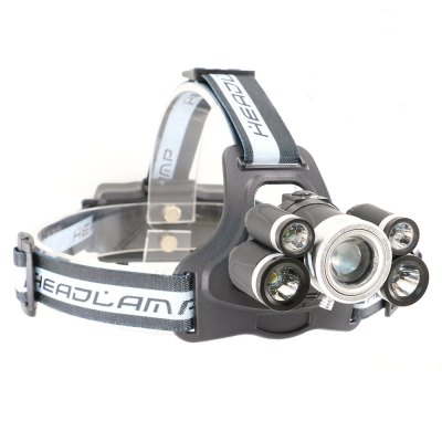 UltraFire SQ-009 T6+R2 5 Lights 2800LM 5 Focus Adjustable Rechargeable Head Light
