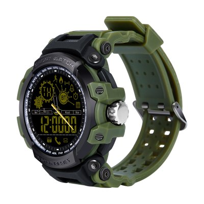 DX16 Water-Resistant Bluetooth Smart Luminous Brightness Watch Support SMS and Call Alert stat stating Pedometer