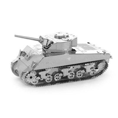 3D Metal Model DIY Kit Sherman Tank Jigsaw Puzzle