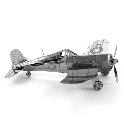 3D Metal Model DIY Kit Corsair Fighter Jigsaw Puzzle Toy