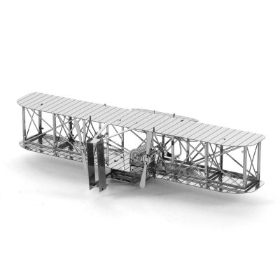 3D Metal Model First Generation Biplane Kit Puzzle
