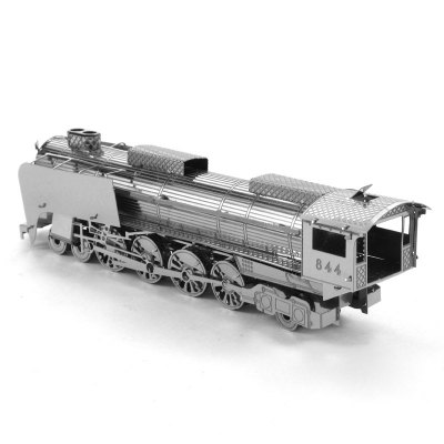 3D Metal Model Steam Locomotive Kit Jigsaw Puzzle Toy