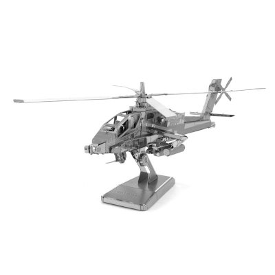 3D Metal Model Kit Apache Helicopter Jigsaw Puzzle Toy