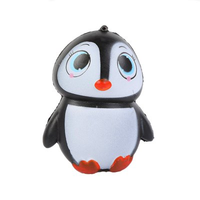 Jumbo Squishy Stylish Penguin PU Stress Reliever Toy