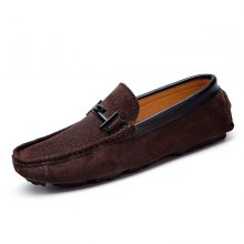 New products gadgets Men Real Leather Casual Bean Shoes