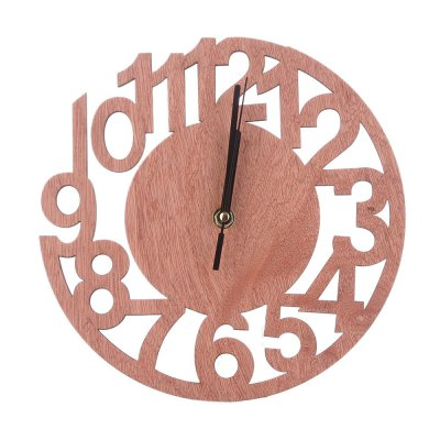 Round Digital Creative Wooden Tree Wall Clock