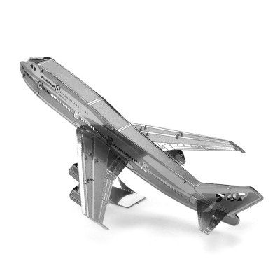 3D Metal Boeing 747 Model Kit Puzzle Toy