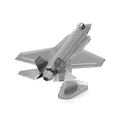 3D Metallic F35 Fighter Model Kit Puzzle