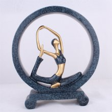 Blue Yoga Girl Creative Living Room Household Adornment