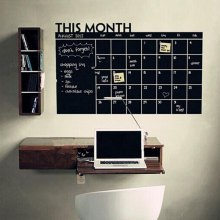 DIY Chalkboard Decals Wall Stickers Erasable Removable Schedule - BLACK
