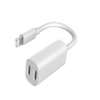 Double Audio Charger Headphones Jack Cable for iPhone X / 8 / 8 Plus/ 7 Plus