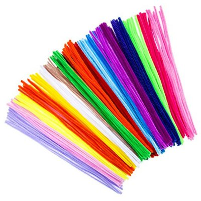 100 Pieces Pipe Cleaners Chenille Stems 6mm x 12 inch for Diy Art Craft