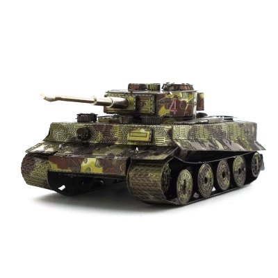 Creative Color Tiger Tank 3D Metal High-quality DIY Laser Cut Puzzles Model Toy