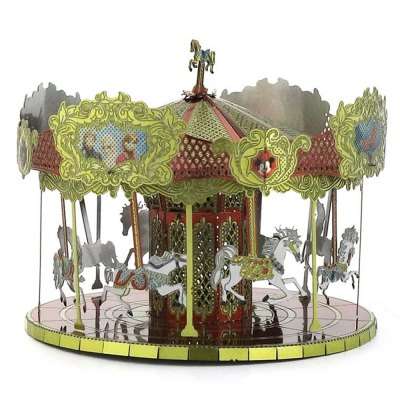 Creative Merry-go-round 3D Metal High-quality DIY Laser Cut Puzzles Model Toy