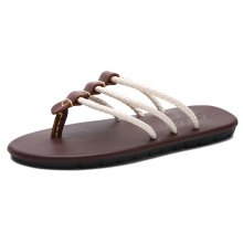 2018 New Summer Leather Beach Herringbone Non-Slip Sandals