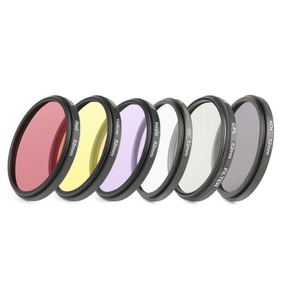 52mm Red Yellow Purple CPL ND UV Filter For GoPro Hero 4/3+ Waterproof Case