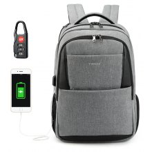 2018 Tigernu Brand New Design Male Mochila 15.6 Anti-theft laptop backpack USB Charging Backpack waterproof Schoolbag