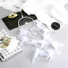New products gadgets Style Two Ring of Dream Net Feather Home Decoration Pendant