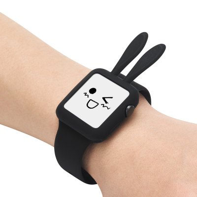 Cartoon Rabbit for Apple Watch Soft Silica Gel Protective Shell 38MM
