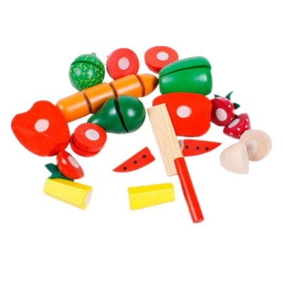 Wooden Toy Fruit and Vegetable Slice