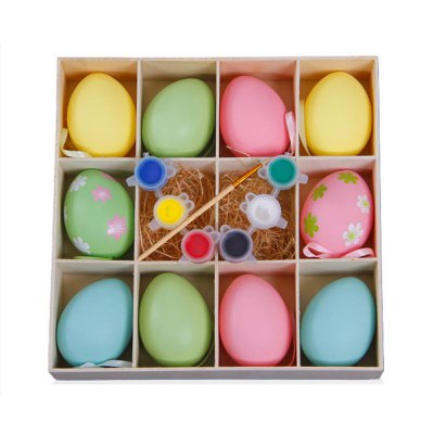 Creative DIY Hand Painted Easter Egg Set Educational Toy