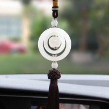 310-02 Consummate Double Ring Jade Ornament Car Decoration Products