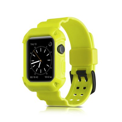 2 and 1 for iWatch Sports Soft Silica Gel Series Strap 42MM