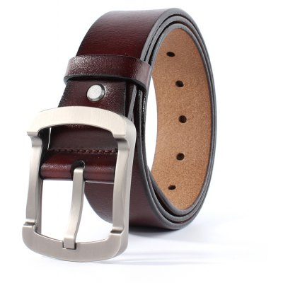 ZHAXIN 3011 Vintage Man Leather Belt Square Clasp High Quality