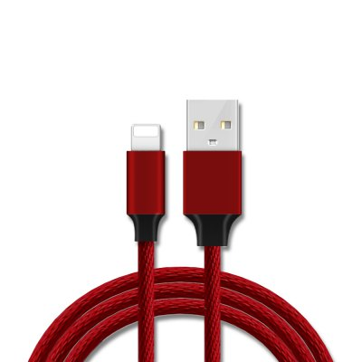 Fabric Braided Data Cable Charger with CE Fcc RoHS for iPhone