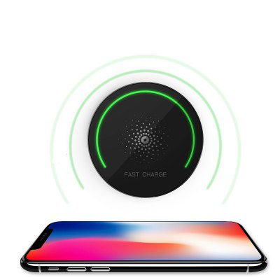 5V 2A Output Fast Wireless Charging Pad Stand for Apple and Samsung