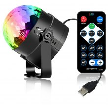 YouOKLight 3W RGB Mini Magic Ball Colorful Car Stage Lights USB Voice Activated LED Disco Crystal Rotating Lamp