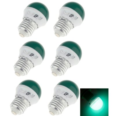 YouOKLight Romantic Style E27 3W 240lm 6SMD 2835 LED Red / Blue / Green / Yellow Holiday Light Bulb 6PCS