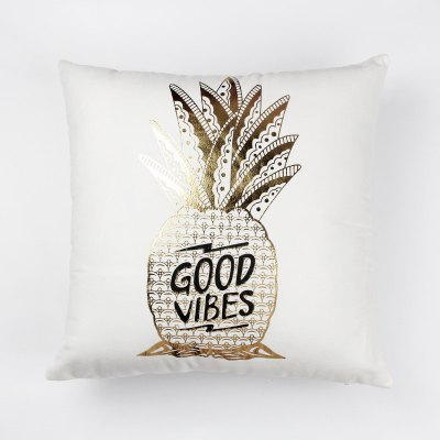 Pineapple  Gold Printing Pillow Case Decorative PillowcasePillow<br>Pineapple  Gold Printing Pillow Case Decorative Pillowcase<br><br>Category: Pillow Case<br>For: All<br>Material: Cotton<br>Occasion: Bedroom, Living Room, KTV, Bar<br>Package Contents: 1 x Pillow Case<br>Type: Novelty, Fashion, Decoration