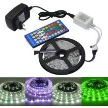 Jiawen 5m 5050 RGBW LED Light Strip + Remote Controller + 12V 2A Power Supply RGB + White Indoor for Decoration