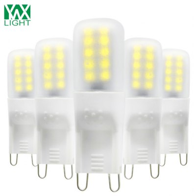 YWXLight 5PCS G9 2835SMD LED Bulbs Frosted Light Lamps AC 220 - 240V