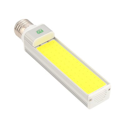 1PCS WXLight E27 12W COB LED Horizontal Plug Light AC 85 - 265VCorn Bulbs<br>1PCS WXLight E27 12W COB LED Horizontal Plug Light AC 85 - 265V<br><br>Angle: 180 Degrees<br>Available Light Color: Cold White,Warm White<br>Brand: YWXLight<br>CCT/Wavelength: 2700-3200K,6000-6500K<br>Emitter Types: COB<br>Features: Low Power Consumption, Long Life Expectancy, Energy Saving<br>Function: Studio and Exhibition Lighting, Home Lighting<br>Holder: E27<br>Lifespan: &gt;30000 Hours<br>Luminous Flux: 1100-1200 LM<br>Output Power: 12W<br>Package Contents: 1 x YWXLight E27 Horizontal Plug Lamp<br>Package size (L x W x H): 17.50 x 4.00 x 4.00 cm / 6.89 x 1.57 x 1.57 inches<br>Package weight: 0.1450 kg<br>Product size (L x W x H): 16.80 x 3.50 x 3.50 cm / 6.61 x 1.38 x 1.38 inches<br>Product weight: 0.1120 kg<br>Sheathing Material: Aluminum<br>Total Emitters: 1 LED<br>Type: Horizontal Plug Lamp<br>Voltage (V): AC 85-265<br>Wattage Range: 11-15W