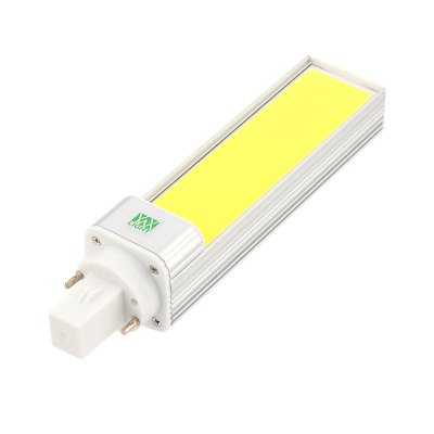 YWXLight G24 12W Super Bright Lights COB LED Bulbs Horizontal Plug Lamps AC 85 - 265VLED Bi-pin Lights<br>YWXLight G24 12W Super Bright Lights COB LED Bulbs Horizontal Plug Lamps AC 85 - 265V<br><br>Angle: 180 Degrees<br>Available Light Color: Cold White,Warm White<br>Brand: YWXLight<br>CCT/Wavelength: 2700-3200K,6000-6500K<br>Emitter Types: COB<br>Features: Low Power Consumption, Long Life Expectancy, Instant Full Light, Energy Saving<br>Function: Studio and Exhibition Lighting, Home Lighting<br>Holder: G24<br>Lifespan: &gt;30000 Hours<br>Luminous Flux: 1100-1200 LM<br>Output Power: 12W<br>Package Contents: 1 x YWXLight G24 Horizontal Plug Lamp<br>Package size (L x W x H): 17.50 x 4.00 x 4.00 cm / 6.89 x 1.57 x 1.57 inches<br>Package weight: 0.1350 kg<br>Product size (L x W x H): 16.80 x 3.50 x 3.50 cm / 6.61 x 1.38 x 1.38 inches<br>Product weight: 0.1120 kg<br>Sheathing Material: Aluminum<br>Total Emitters: 1 LED<br>Type: Horizontal Plug Lamp<br>Voltage (V): AC 85-265<br>Wattage Range: 11-15W